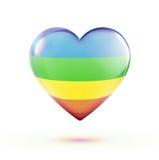 Forme multicolore de coeur Images stock