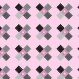 Forme noire et argentée de croix d'ombre avec la double ligne modèle de point Photographie stock