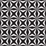Forme noire et blanche de place et d'étoile Image stock
