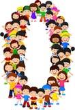 Forme numéro zéro de petits enfants Photos libres de droits