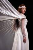 Forme o estúdio disparado da mulher bonita com composição Imagens de Stock Royalty Free