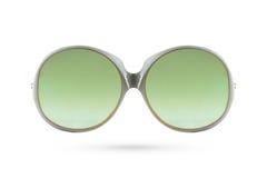 Forme o estilo da formiga dos vidros verdes no fundo branco Imagens de Stock