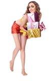 Forme o modelo de sorriso da mulher Imagens de Stock Royalty Free