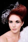 Forme o retrato com penas Fotos de Stock Royalty Free