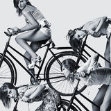 Forme o retrato da arte de um wo 'sexy' novo bonito Fotos de Stock