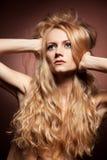 Forme o retrato da mulher nova sensual Foto de Stock Royalty Free