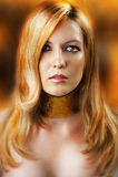 Forme o retrato da mulher 'sexy' do encanto Imagem de Stock Royalty Free