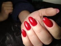 Forme o tratamento de mãos vermelho fotos de stock