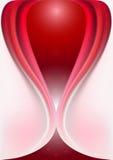 Forme originale de maille de courbes d'écoulement rouges incurvées Images stock