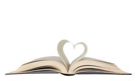 Forme ouverte de livre et de coeur Photo stock