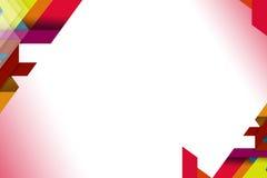 forme overlaping 3d sugli angoli, fondo del abstrack Fotografie Stock