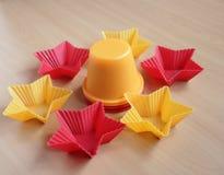 Forme para las magdalenas que cuecen Imagen de archivo libre de regalías