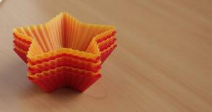 Forme para las magdalenas que cuecen Foto de archivo libre de regalías
