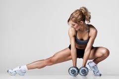 Forme physique avec des haltères Photos stock