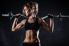 Forme physique avec le barbell Photos stock