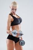 Forme physique avec le barbell Photo libre de droits