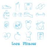 Forme physique d'icônes Images stock