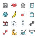 Forme physique d'icônes - la vie saine Photos stock
