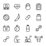 Forme physique d'icônes - la vie saine Image stock