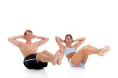 forme physique de couples Images libres de droits