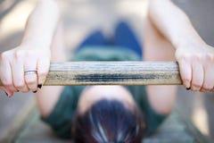 Forme physique de pratique de fille Photos stock