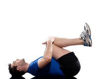 Forme physique de séance d'entraînement de formation de poids d'exercice d'homme Photographie stock libre de droits