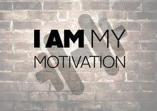 Forme physique et citation de motivation de gymnase Images stock
