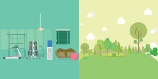 Forme physique et Forest Background Illustration Libre de Droits