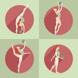 Forme physique Fille faisant des exercices Image stock