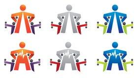 Forme physique, gymnastique, culturisme, cardio- logo Photos libres de droits