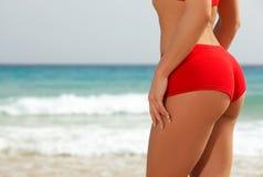 Forme physique sur la plage Images libres de droits