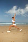 Forme physique sur la plage Photos stock