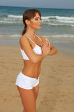 Forme physique sur la plage Photo stock