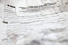 Forme plissée de W8BEN Photos libres de droits