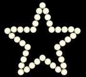 Forme précieuse d'étoile de perles d'isolement illustration de vecteur