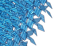 Forme réduite en fragments par bleu mou abstrait de jet de graffiti Image stock