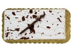 Forme rectangulaire de gâteau Image libre de droits