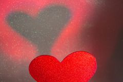 Forme romantique de coeur d'amour Images libres de droits