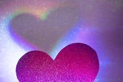 Forme romantique de coeur d'amour Image stock