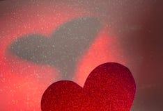 Forme romantique de coeur d'amour Photo stock