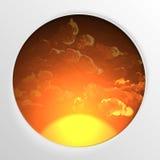 Forme ronde abstraite avec le cadre Image stock