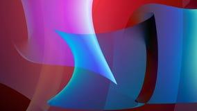 Forme rosa e blu di rosso di arte, della curvatura illustrazione di stock