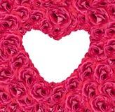 Forme rose de coeur d'amour de fond Image libre de droits