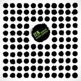 113 forme rotonde di lerciume di vettore Immagini Stock Libere da Diritti