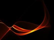 Forme rouge abstraite sur le fond noir Images stock