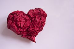 Forme rouge de coeur photo stock