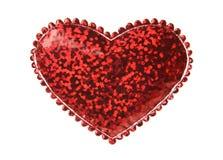 Forme rouge de coeur images libres de droits