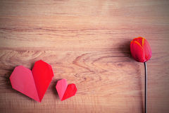 Forme rouge de coeur Photographie stock