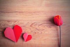Forme rouge de coeur Photographie stock