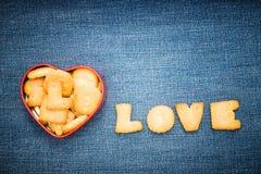 Forme rouge de coeur avec le message Image libre de droits